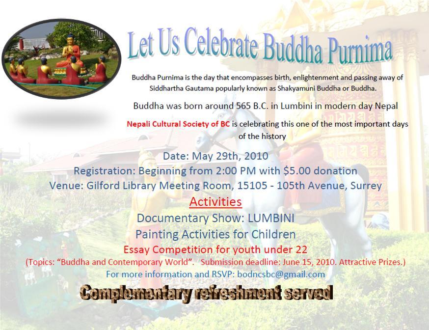 essay on buddha purnima Stunning photos of india s iconic ganesh festival boys buddha purnima festival  or buddha jayanti festival is the most sacred day in buddhist calendar it is the.