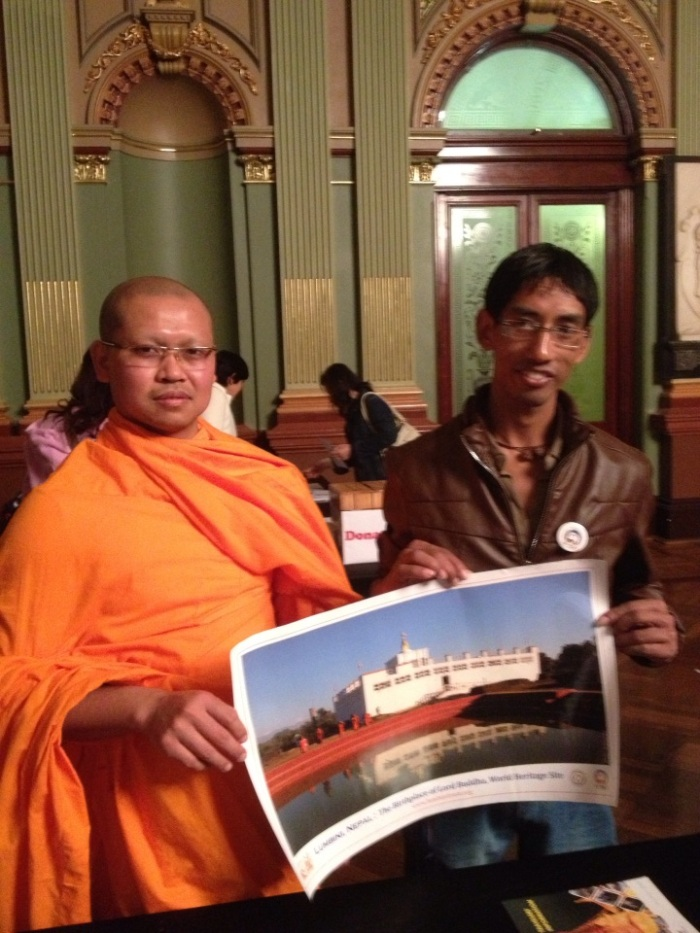 Lumbini promoted in The United Nations Day of Vasak 2013 Sydney 26/05/2013 in Town Hall. by ganga Bahadur Nemkul